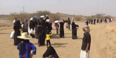 القصف الحوثي العشوائي يتسبب في نزوح آلاف الأبرياء في الضالع