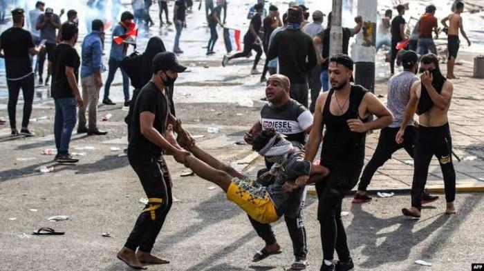 مقتل 3 متظاهرين فى إطلاق نار بالعراق