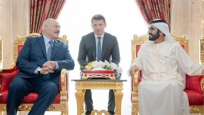 الشيخ محمد بن راشد يستقبل رئيس بيلاروسيا