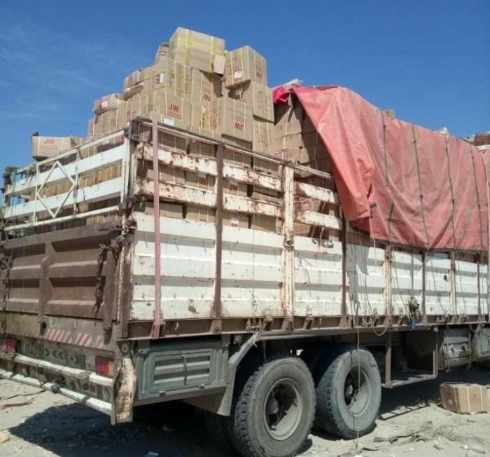 قبل وصولها إلى صنعاء.. ضبط شاحنة تهرب مواد لصناعة الطائرات المسيرة