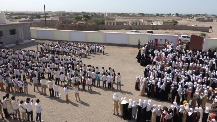 الهلال الإماراتي يفتتح مدرسة جديدة بالخوخة (فيديو)