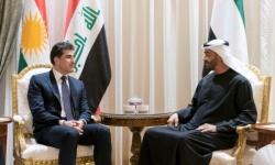 ولي عهد أبو ظبي يجري مباحثات مع رئيس إقليم كردستان العراق