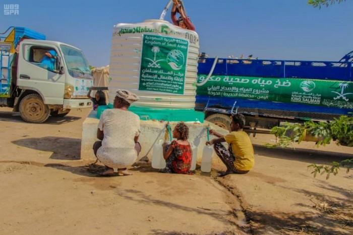 """""""سلمان للإغاثة"""" يواصل أعمال مشروع المياه في الخوخة"""
