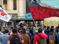 اندلاع مظاهرات عنيفة بين المحتجين والشرطة بتشيلي