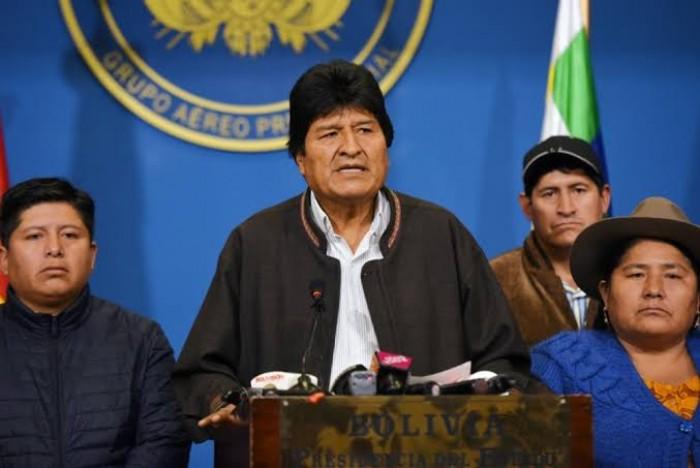 موراليس يستنكر اعتراف أمريكا بالحكومة الجديدة في بوليفيا