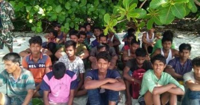 خفر السواحل في بنجلادش ينقذ 122 لاجئا من الروهينجا المسلمين