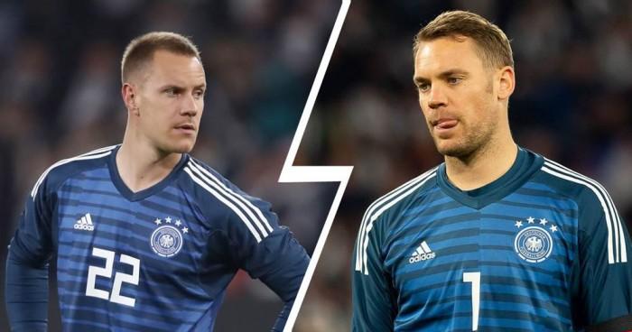 نوير وتير شتيجن يقتسمان المهمة مع المنتخب الألماني في تصفيات اليورو