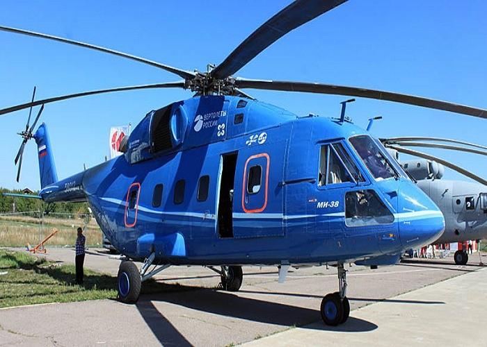 """روستيخ الروسية تعرض أحدث مروحياتها """"مي-38"""" بمعرض دبي للطيران"""