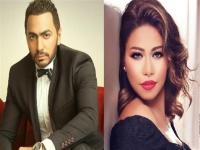 تامر حسني يهنئ شيرين بحفلها الأخير بموسم الرياض