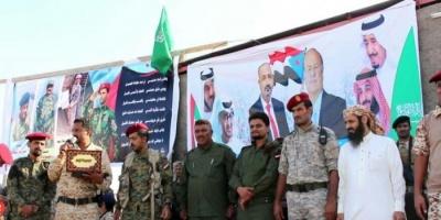 حفل عسكري بلحج لتخريج دفعة جديدة بمعسكر أبواليمامة (صور)