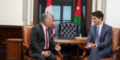 العاهل الأردني ورئيس الوزراء الكندي يناقشان عدد من القضايا الإقليمية والدولية