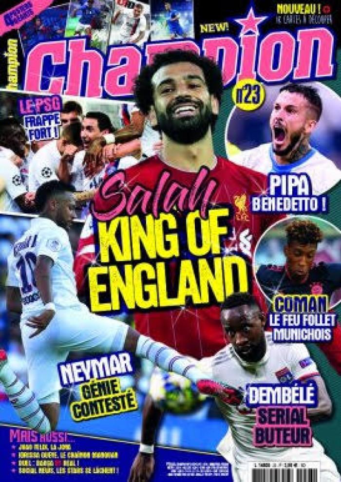 """""""salah king of england"""".. محمد صلاح يتصدر غلاف مجلة إنجليزية"""
