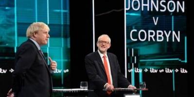 مناظرة تلفزيونية تجمع جونسون وزعيم المعارضة كوربن