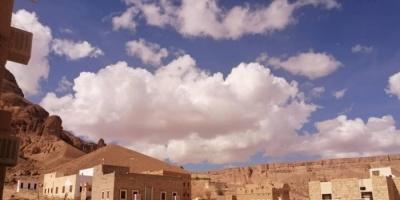 بالصور.. سحب متوسطة وشبه ركامية على وادي حضرموت