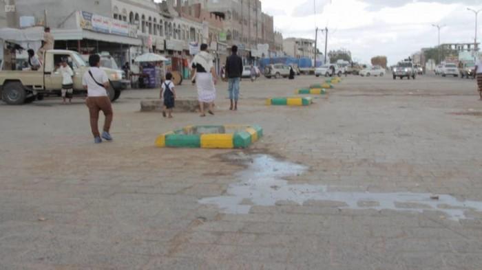 """انتهاء أعمال رصف طريق """"صبر – مفرق الوهط"""" في لحج"""