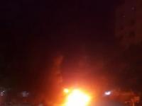 انفجار سيارة بأحد شوارع الشيخ عثمان