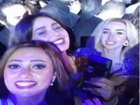 بشرى بصحبة هنا الزاهد وحلا شيحة في حفل عمرو دياب الأخير (فيديو)