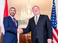 وزير الخارجية الإماراتي ونظيره الأمريكي يبحثان أنشطة إيران الخبيثة