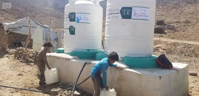 """""""سلمان للإغاثة"""" يضخ 367 ألف لتر مياه في حريب نهم"""