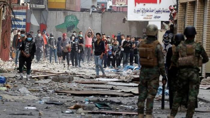 قتيل في بغداد وعشرات المصابين خلال تفريق تظاهرات ببضع مدن عراقية