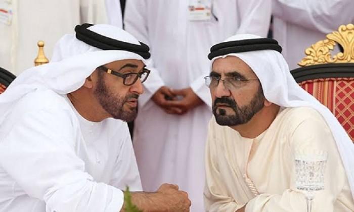 بن زايد يوجه رسالة شكر إلى حاكم دبي