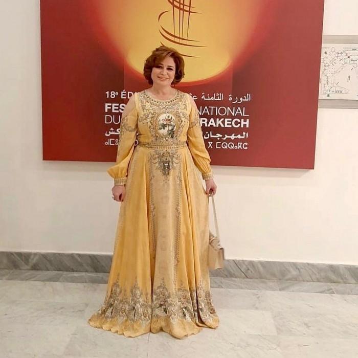 إلهام شاهين تتألق بالقفطان المغربي في مهرجان مراكش السينمائي