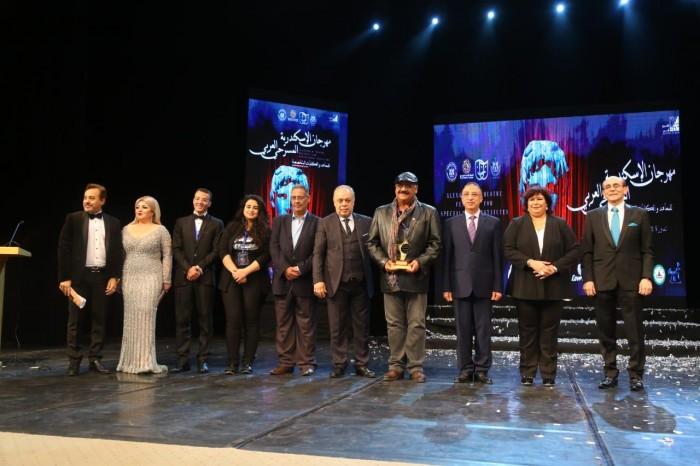 بالصور.. تعرف على أبرز المكرمين في افتتاح الدورة الأولى لمهرجان الإسكندرية المسرحي