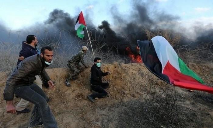 إصابة 6 فلسطينيين برصاص الاحتلال الإسرائيلى شرقي غزة