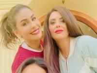 مي سليم تحتفل بالعام الجديد مع شقيقاتها بهذه الطريقة (فيديو)