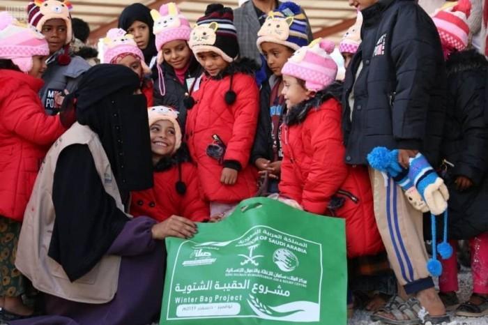 """إغاثات السعودية.. """"حقيبة الإنسانية"""" التي تواجه شتاء اليمن القارس"""