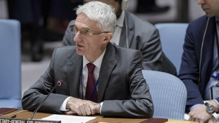 لوكوك يتطلع إلى زيادة التعاون مع السعودية بالجانب الإنساني باليمن