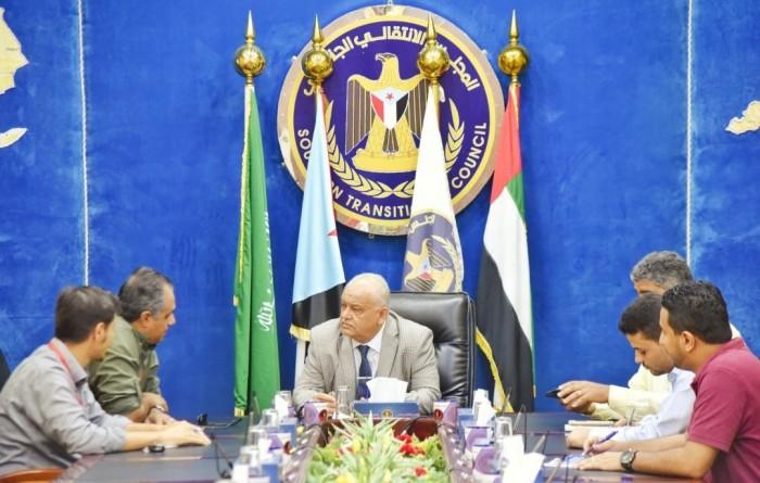 """الوالي يناقش مشروعات """"الأمم المتحدة"""" في عدد من مديريات العاصمة عدن"""