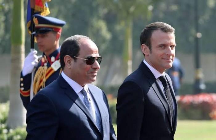 ماكرون والسيسي يدعوان إلى ضبط النفس في ليبيا