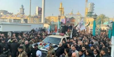 إطلاق نار خلال تشييع جنازة سليماني والمهندس بالكاظمية