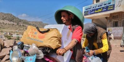 مساعدات أممية لـ 6 آلاف أسرة نازحة في الضالع وإب