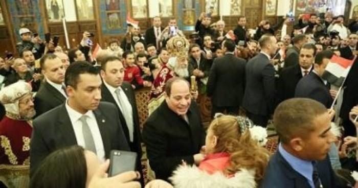 السيسي يهنأ المصريين بعيد الميلاد ويؤكد: لا مجال للقلق ولن يهزمنا أحد