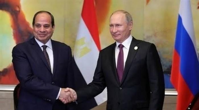 الرئيس المصري ونظيره الروسي يبحثان آخر تطورات القضية الليبية