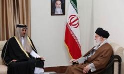 في زيارة مشبوهة.. خامنئي يلتقي أمير قطر في طهران
