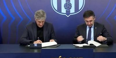 """رسميًا.. """"كيكي سيتين"""" يوقع عقود تدريب برشلونة حتى 2022"""