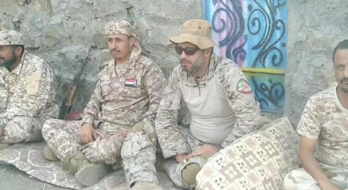 قيادة التحالف بعدن تزور معسكر القطاع الغربي في ردفان
