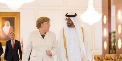 """الشيخ محمد بن زايد يجتمع مع ميركل لبحث استعدادات """"مؤتمر برلين"""""""