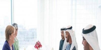 تفاصيل اجتماع الشيخ محمد بن زايد وميركل لبحث حيثيات مؤتمر برلين