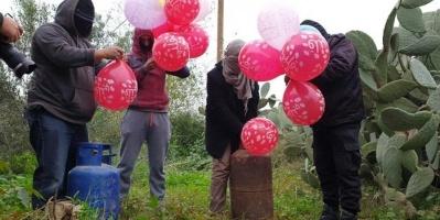 إطلاق بالونات حارقة تجاه مستوطنات بمحيط غزة (صور)