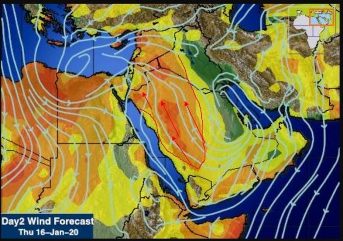 منخفض غرب الخليج يدفع الرياح الدافئة إلى الجنوب