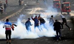 كر وفر بين المحتجين والأمن في البصرة.. ومقتل أحد المتظاهرين بكربلاء