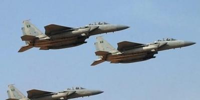 مقاتلات التحالف تدك مواقع الحوثي بالجوف
