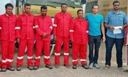 خليفة الإنسانية تقدم دعماً لرجال الدفاع المدني بمطار سقطرى
