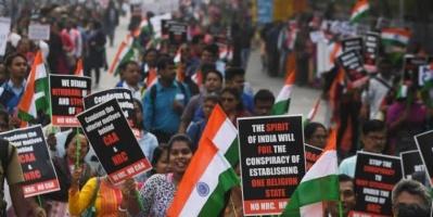 احتجاجات واسعة بالهند ضد قانون الجنسية