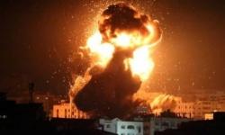 طائرات الاحتلال الإسرائيلي تقصف مجددًا أهدافا فلسطينية في غزة