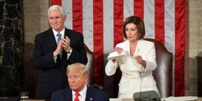نانسي بيلوسي تكشف أسباب تمزيق خطاب ترامب